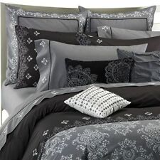 KAS Australia MARISSA Embroidered Black Gray Boho Chic Duvet Cover FULL QUEEN