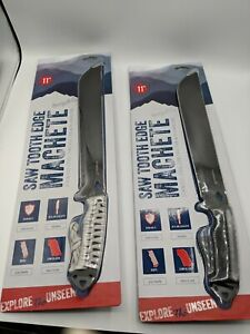 1-Machete Heavy Duty Saw Tooth Edge Stainless Steel Construction W/ Paracord...