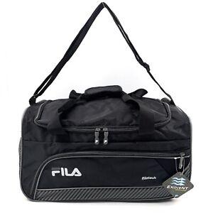 New FILA Lightweight Sports Duffle Bag Filatech Black