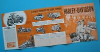 Antique 1940's Harley Motorcycle Brochure Military EL ES FL FS U UL  WL WLD GA