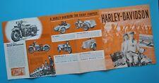 Original 1940's Harley Motorcycle Brochure Military EL ES FL FS U UL  WL WLD GA