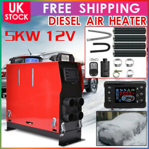 All IN ONE 5000W 12V Diesel Air Heater Thermostat For Caravan Motorhome Trailer