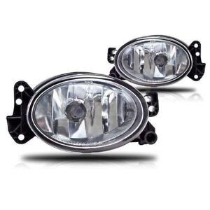 2007-2009  MERCEDES BENZ W211  E350 E550 CLEAR FOG LIGHTS LAMPS BULB PAIR