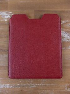 BALLY of Switzerland red leather iPad tablet slipcase authentic