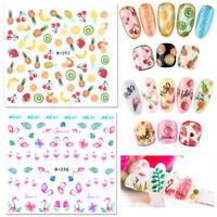 4 Sheets Nagel Kunst Wasser Aufkleber  Tukan Nail Art Transfer Sticker