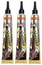 3x golecha Henna Pasta in tubi-NERO/BLACK | clinicamente testato | 75g