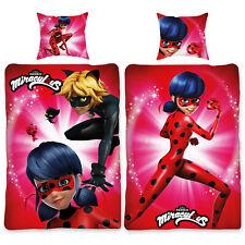Biber Bettwäsche Miraculous Ladybug Love 135 x 200cm Kindebettwäsche Bettzeug BW