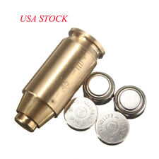 US 45 ACP Red Laser Bore Sighter Boresight Cartridge Brass Boresighter&Battery