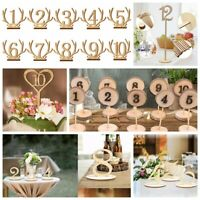 US 1-20 Wooden Table Numbers Set Base Birthday Wedding Party Decor Gifts DIY New