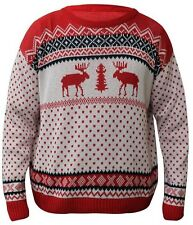 Mujer Hombre Navidad Punto Reno Novedad Unisex Invierno Navidad Suéter