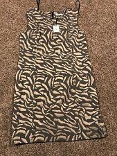 Calvin Klein Womens 14p Dress Sleeveless Nwt Safari Design A23
