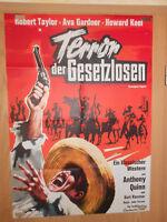 Terror der Gesetzlosen Robert Taylor Ava Gardner Filmplakat 60x80cm gefaltet