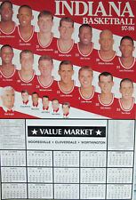 Indiana Hoosiers 1997 - 1998 Bobby Knight IU Basketball Schedule Large