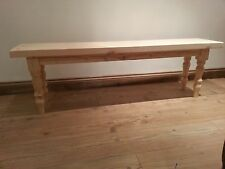 5ft Dining Bench, Handcrafted Solid Pine Kitchen Bench, Bespoke Farmhouse Chair