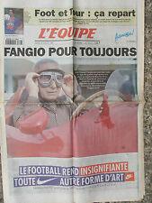 L'Equipe du 18/7/1995 - La mort de Fangio - Foot et Tour : ça repart