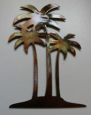 "Palm Tree Trio 24"" tall  Metal Wall Art Decor"
