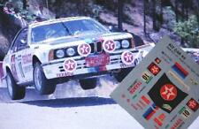 "DECAL CALCA 1/43 BMW 635 CSi ""TEXACO"" J.M.PONCE RALLY CORTE INGLES 1985"