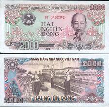 VIETNAM billet neuf de 2000 DONG 1988 femmes travaillant  filature textile P107