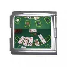 Blackjack Table Casino Poker 18mm Mega Link Italian Charm