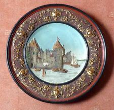 Hafen von UTRECHT - Jugendstil - Reliefbild um 1900 - Johann Maresch