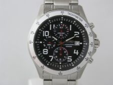 Seiko mens watches  chron tachymeter black dial arabic numbers SNDA81