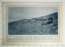 1915 WWI WW1 PRINT SERBIAN FIRING LINE ENEMY ABOUT TO APPEAR OVER THE HILL CREST