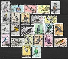 Angola stamps 1951 scarce BIRDS set  CANC  VF  Full Set of 24 stamps