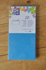 20 enveloppes autocollantes 110 220 mm bleu turquoise oxford papier 120g/m2 long