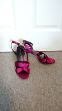BNWT New Look Ladies Pink Peep Toe Stiletto Knot Detail Shoes UK 7 Party