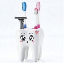Weiß Zahnputzbecher Zahnbürstenhalter Zahnbürste Becher Zahnputzset süß Zahnform