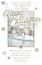 TO BOTH OF YOU ~ FABULOUS  LARGE CHRISTMAS Card With 8 PAGE INSERT Snowman