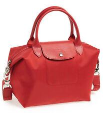 Longchamp Le Pliage Neo Small Nylon Tote Shoulder Bag Crossbody Satchel Poppy