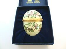 Halcyon Days Enamel Egg Hinged in Original Box