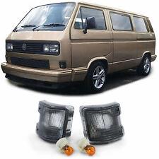 Blinker Schwarz Smoke Paar für VW Bus Transporter T2 T3 79-92