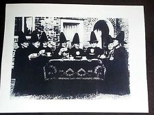 Halloween Black Hat Society 8 Witches? 8 1/2 x 11 Black & White Photo Reprint