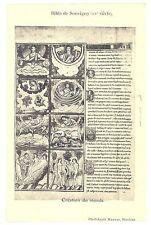 CPA 03 (Allier) - Bible de Souvigny (12e siècle) - Création du Monde