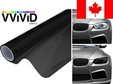 VViViD XPO Matte Black Headlight - Tail Light Window Tint 2-Pack (12in X 24in)