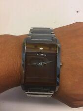 Fossil Arkitekt  watch FS-4336 Silver Diamond Embedded Water Resistant