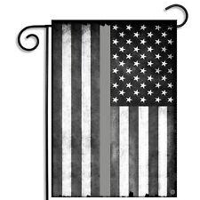 Corrections Officer Thin Gray Line Flag Design Garden Flag with Car Coaster