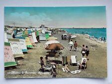 RAVENNA MARINA la spiaggia Bagno Ezio animata vecchia cartolina