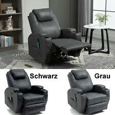 Elektrisch Massagesessel Fernsehsessel Relaxsessel Heizung Massage Liegefunktion