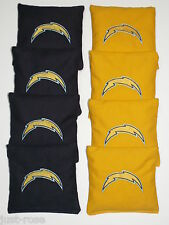 SAN DIEGO CHARGERS Cornhole ACA REGULATION Bean Corn Toss Bags EMBROIDERED NEW