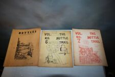3 Vintage Antique Bottle Glass Collector Books The Bottle Trail Price Guides