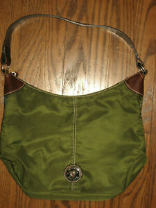 Dooney & Bourke womens medium tote handbag purse nylon green shoulder bag