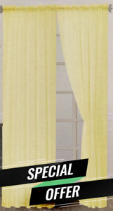 [Carpet Murah Gila] 1pcs Honey Design Curtain Rod Pocket Panel 140cm x 229cm