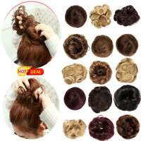 Fashion Real Natural Hair Bun Hair Piece Scrunchie New Fake Remy Hair Extensions