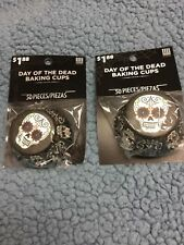 Cupcake Baking Cup Day of the Dead 50 Cups per pack