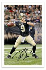 Drew Brees New Orleans Saints Photo dédicacée Autographe Print NFL Football