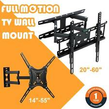 Full Motion TV Wall Mount Bracket Swivel 14 20 32 37 42 48 50 55 60 Inch Screen