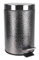 Home Basics NEW Stainless Steel Hammered Waste Bin Trash Garbage Can - WB41272
